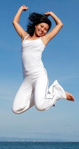 прыжки с согнутыми ногами
