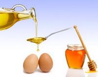 яйца, мед, масло для втираний