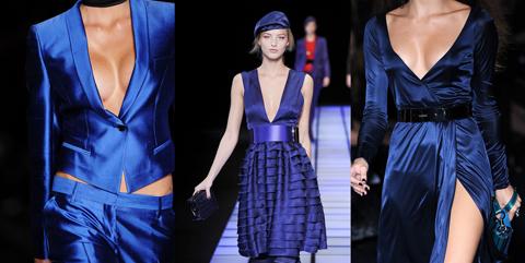 Стильная одежда синего цвета