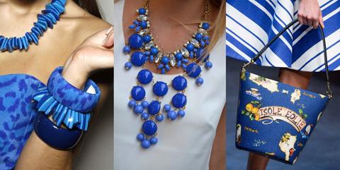 бижутерия синего цвета