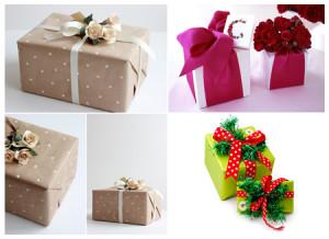 оригинальная упаковка подарков цветами
