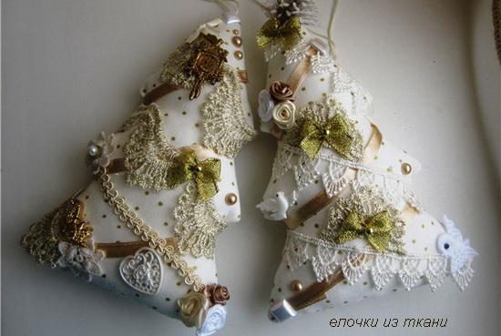 елочки из ткани
