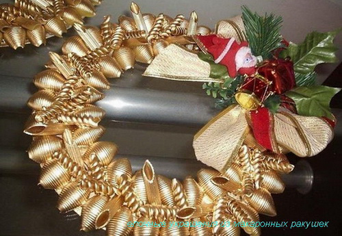 елочные украшения из ракушек
