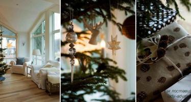 Как поставить елку в небольшом помещении