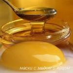 маски с медом и яйцом