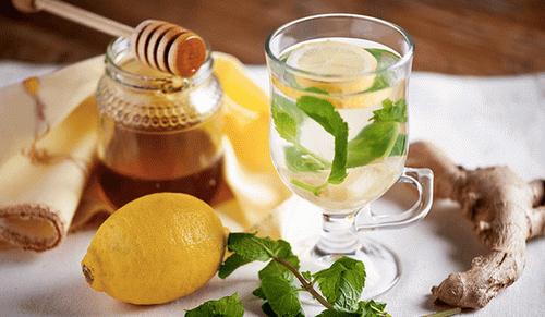 лимон с имбирем и мятой