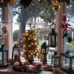 Новогодний декор окон в нашем доме