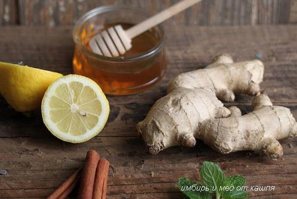 имбирь и мед от кашля