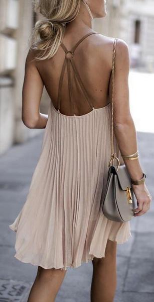 гофрированное летнее платье