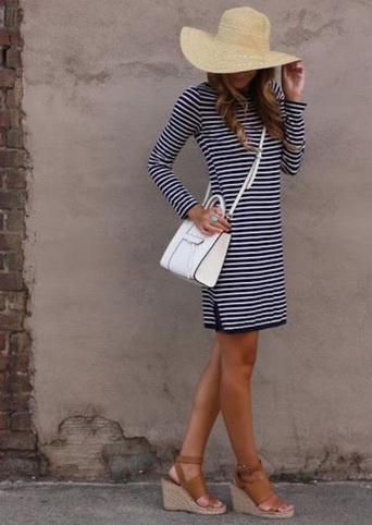 полосатое платье