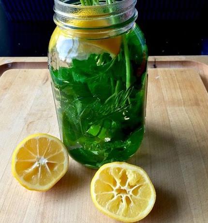 лимон и петрушка для выведения камней из почек