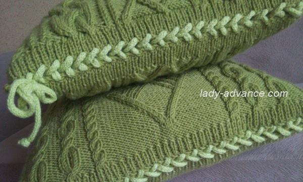вязаные подушки для интерьера