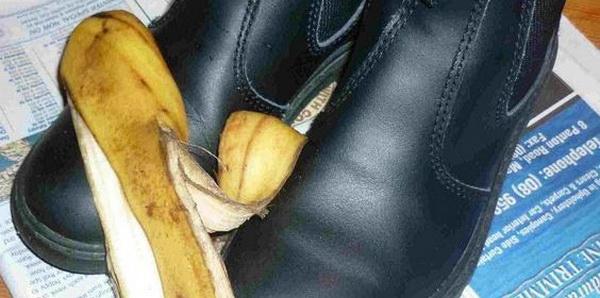 банановая кожура для натирания обуви