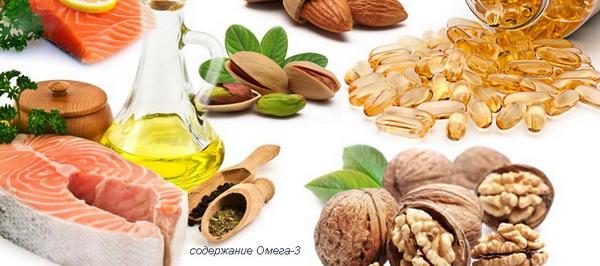 содержание Омега-3 в продуктах