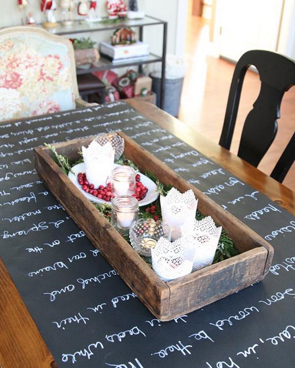 Новогодний стол с благодарностями