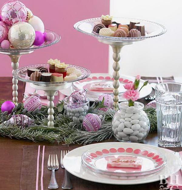 Новогодний стол со сладостями
