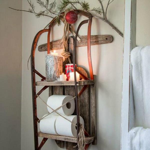 Новогодние украшения ванной