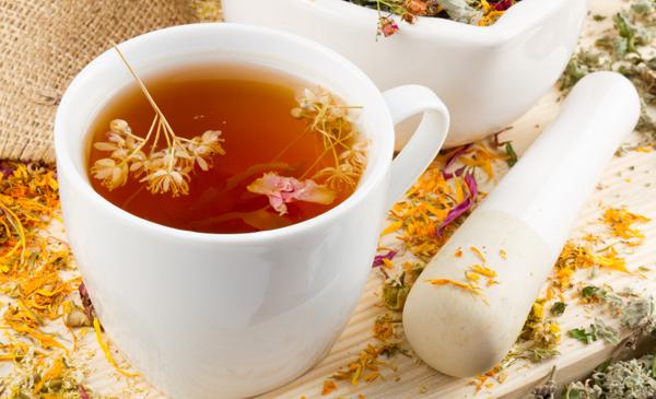 чай из сухоцвета календулы